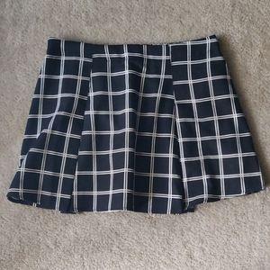 Forever 21 Mini B&W Plaid Skirt